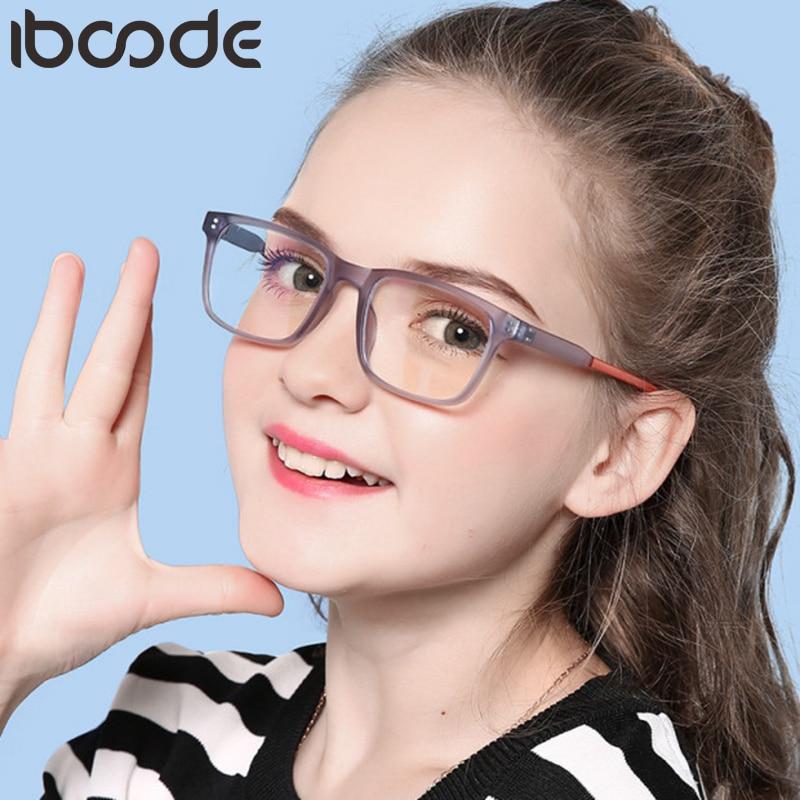 Iboode Children Anti Blue Light Glasses Frame Ultralight Eyeglasses Kids TR90 Boys Computer Girls Game Protective Goggle Eyewear