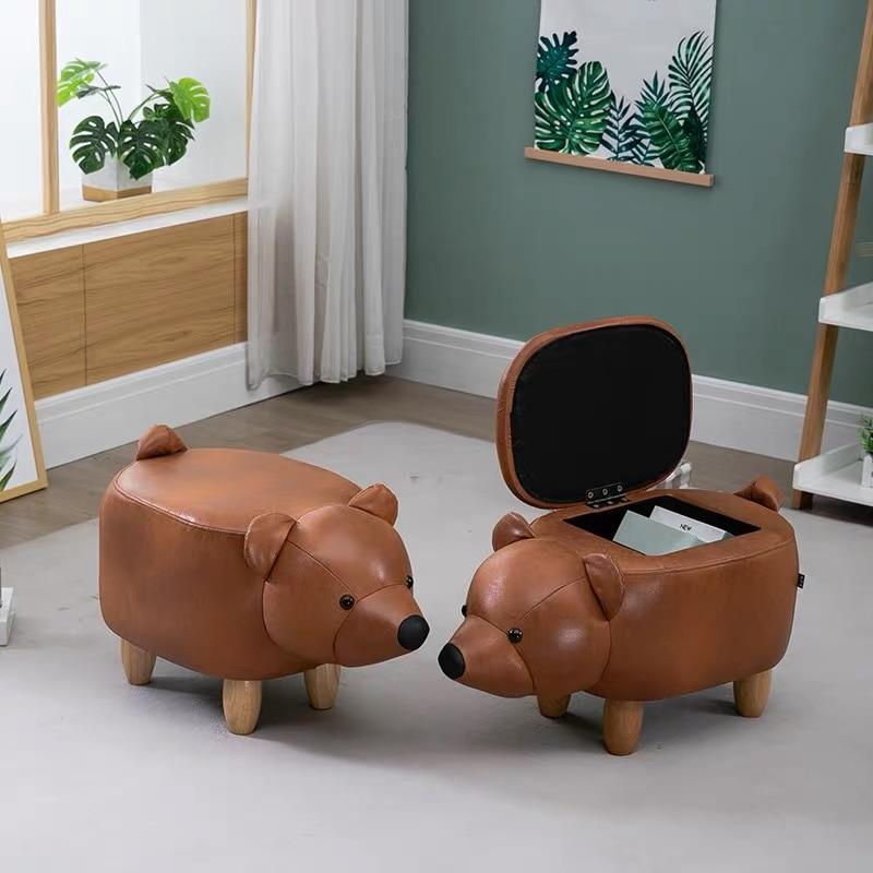 Детский стул с изображением животных, пивной стул, табуреты с оленями, деревянные табуреты ручной работы, плюшевые Мультяшные табуреты