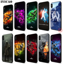 IYICAO Counter Strike CS Go Soft Black Silicone Case for iPhone 11 Pro Xr Xs Max X or 10 8 7 6 6S Plus 5 5S SE