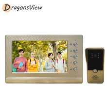 Dragonsview Video Deur Intercom 1000TVL Entry Panel Home Appartement Deurbel Systeem 7 Inch Bedraad Visuele Telefoon Gebouw Intercom