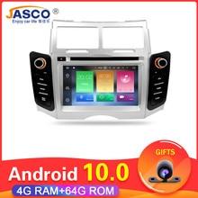 11.11 android 10 carro dvd estéreo multimídia headunitfor toyota yaris 2005 vitz platz rádio navegação gps áudio de vídeo 4g ram 64g