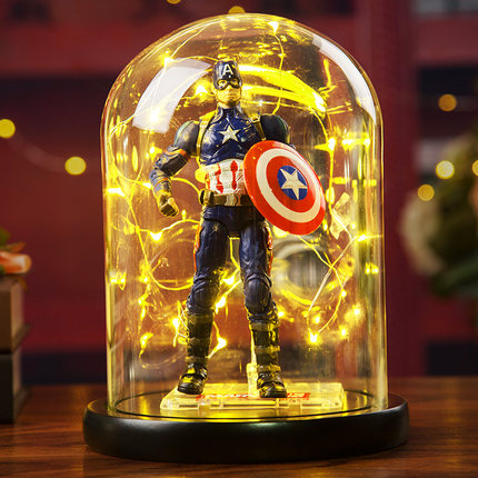 The Avengers 4 Marvel Heroes Ant-Man/Thanos/Captain America Action Figure model Lighting Room decoration toy baby kids best gift