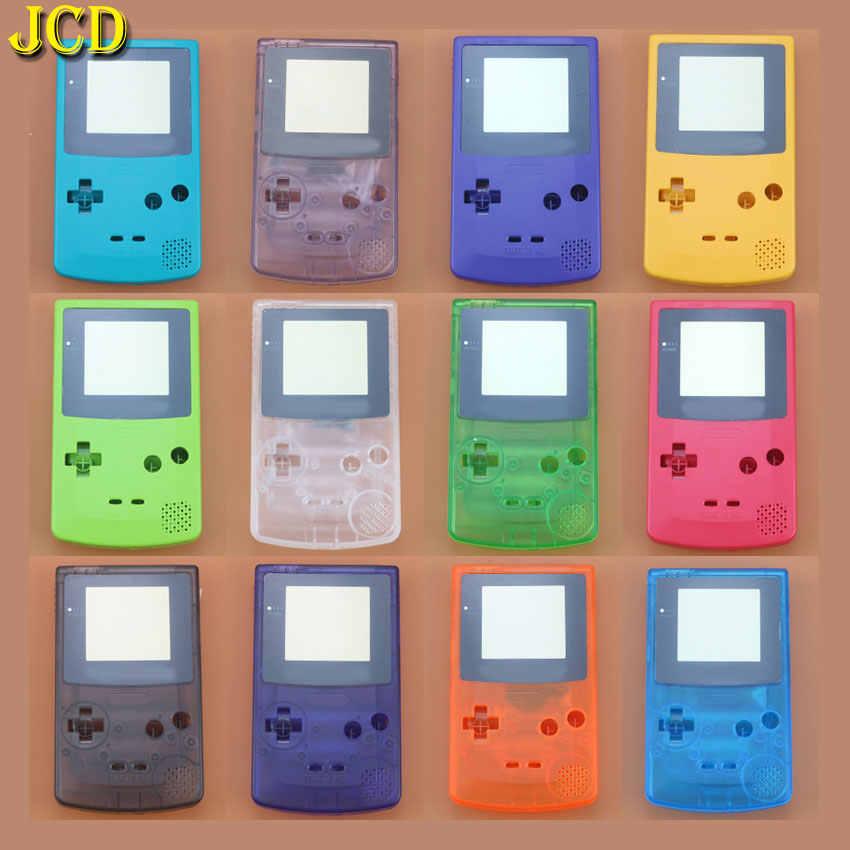 JCD 1 قطعة ل Nintend GameBoy اللون لعبة استبدال حالة البلاستيك قذيفة غطاء ل GBC كامل الإسكان حالة