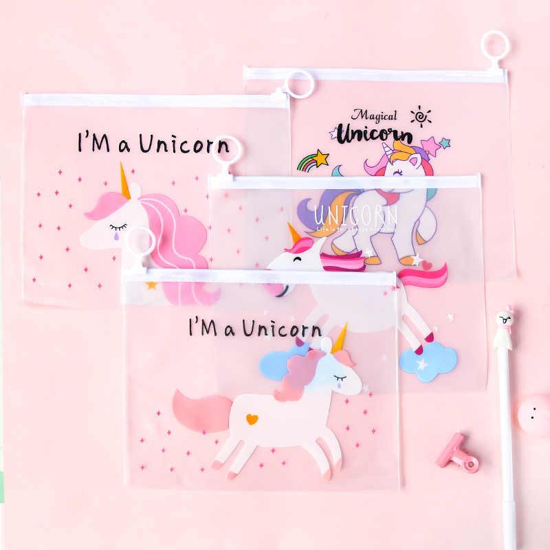 2020New שקוף דפוס קלמר קקטוס Unicorn נמר ילדים בנות מתנת משרד בית הספר נפתח אספקת Kawaii מכתבים