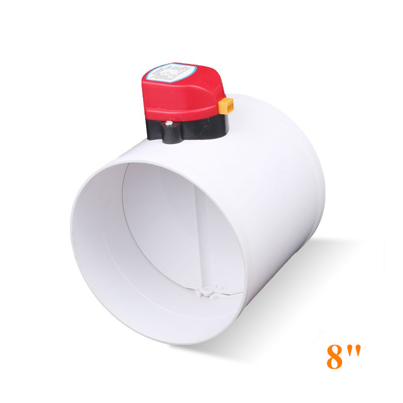 HVAC 200mm Air Damper Valve Electric Motorized Check Valve For 8 Inch Ventilation Solenoid Valve With Actuator 220V 24V 12V
