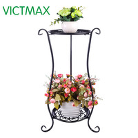 VICTMAX Iron Art Multi-Layer Balcony Plant Pot Stand Simple Indoor Outdoor Gardenpot Base Holder Shlef Garden Decor 2 Colors