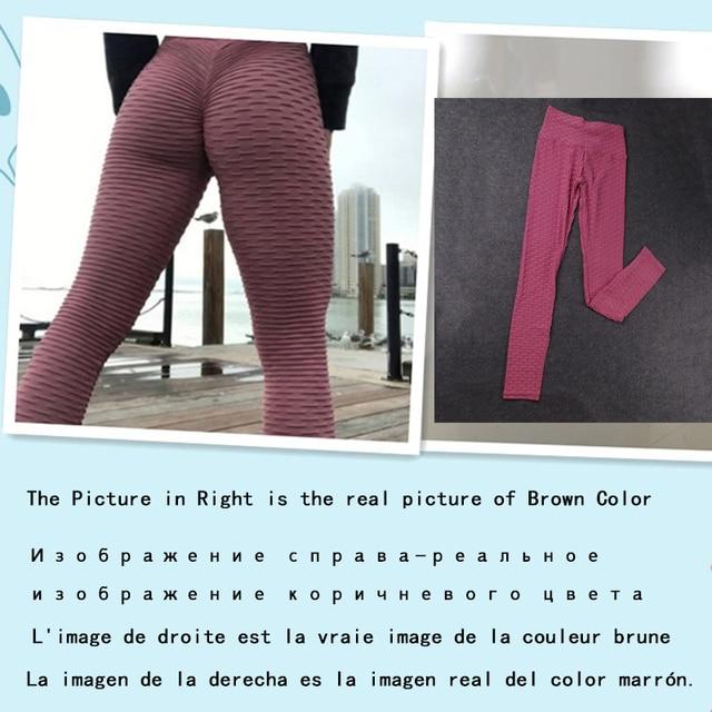 2021 Sexy Yoga Pants Fitness Sports Leggings Jacquard Sports Leggings Female Running Trousers High Waist Yoga Tight Sports Pants 6