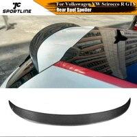 Carbon Fiber / FRP Rear Roof Spoiler Window Wing Lip for Volkswagen VW Scirocco R 2009 2013 GTS 2013 2014