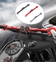 7/8 22mm Motorcycle Balance Crossbar Handlebar With Clock Watch Thermometer For All terrain Vehicle CRF DTR Bike