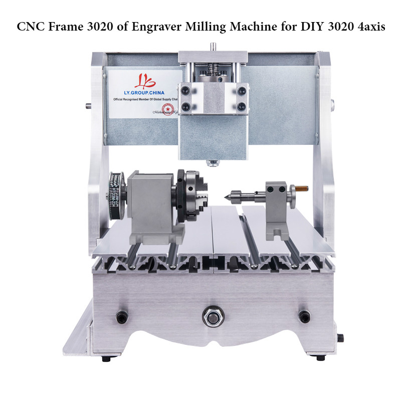 Mini CNC Router Frame of Engraver Milling Machine for DIY 3020 3axis 4axis ,also have 3040/6040/6090 size
