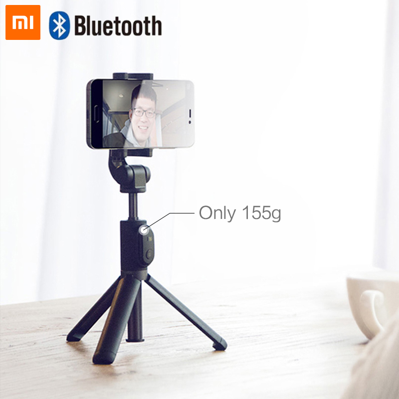 Original xiaomi selfie vara dobrável tripé monopod selfie vara bluetooth com botão sem fio obturador para ios/android/xiaomi