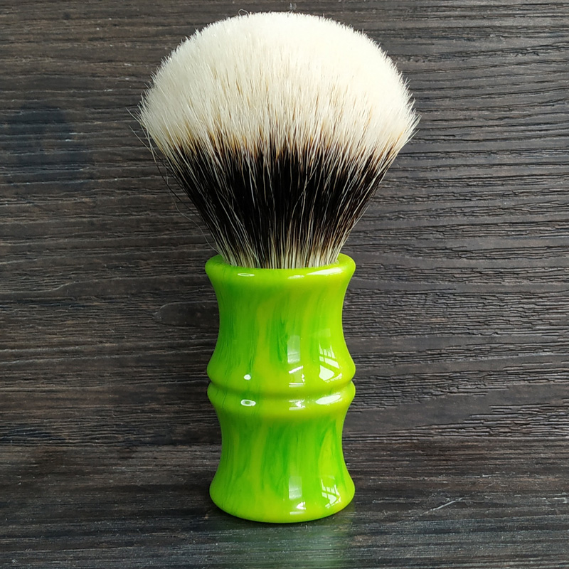 Dscosmetic 26mm Bamboo Resin Handle Dense Geltip 2band Badger Hair Knots Shaving Brush