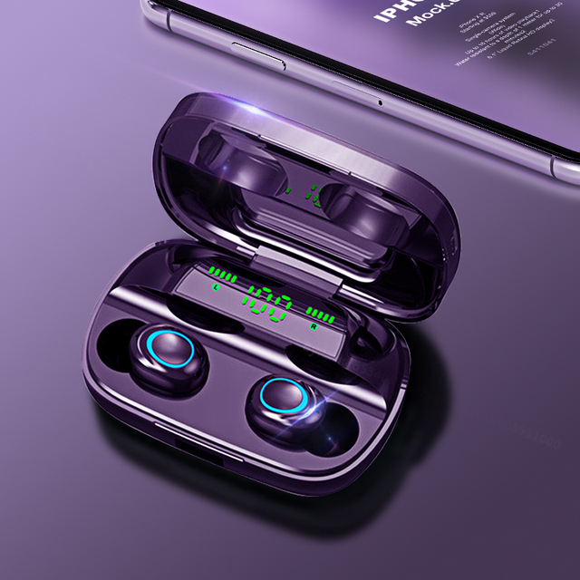 S11 3500mAh LED Bluetooth Wireless Headphones Earphones Earbuds TWS Touch Control Sport Headset Noise Cancel Earphone HIFI Sound 2
