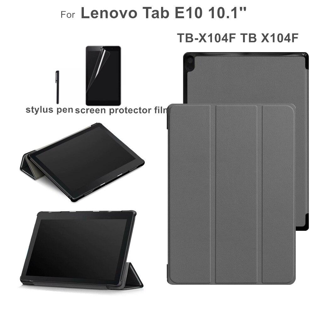 Case for Lenovo Tab E10 TB X104F TB X104F TB X104L 10.1'' Flip Stand Funda Cover for Lenovo E10 Case +gift Tablets & e-Books Case     - title=