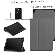 Case for Lenovo Tab E10 TB-X104F TB X104F TB-X104L 10.1 Flip Stand Funda Cover +gift