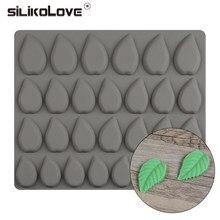 SILIKOLOVE – moules en Silicone en forme de feuilles, 28 cavités, pour la confiserie, accessoires de décoration de gâteaux au chocolat, outils de cuisson