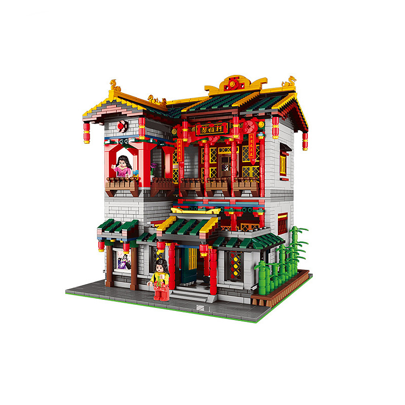 3320Pcs XINGBAO Building Blocks XB-01003 Moc Creator China Town Series Yihong Brothel Chinese architecture Bricks Toys