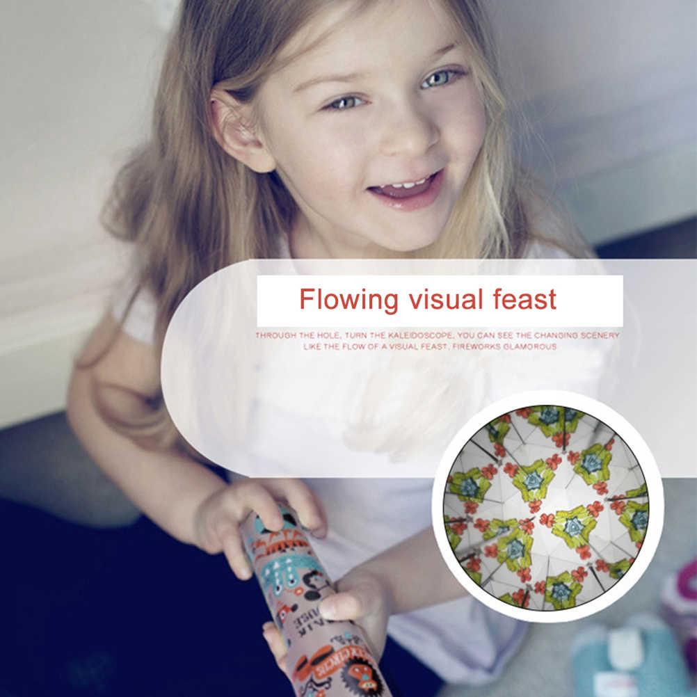 Caleidoscópio infantil 6 pçs/lote, brinquedo giratório, ajustável, colorido, brinquedo, presentes para crianças