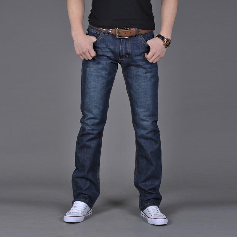 men's Autumn Denim Cotton Hip Hop Loose Work Long Trousers flexible comfortable blue   Jeans   casual Fashion High Quality pants Men