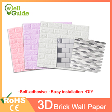 3D Wall Paper Brick Marble Waterproof Wall paper 3D Decor For Bedroom Kids Room Living Room