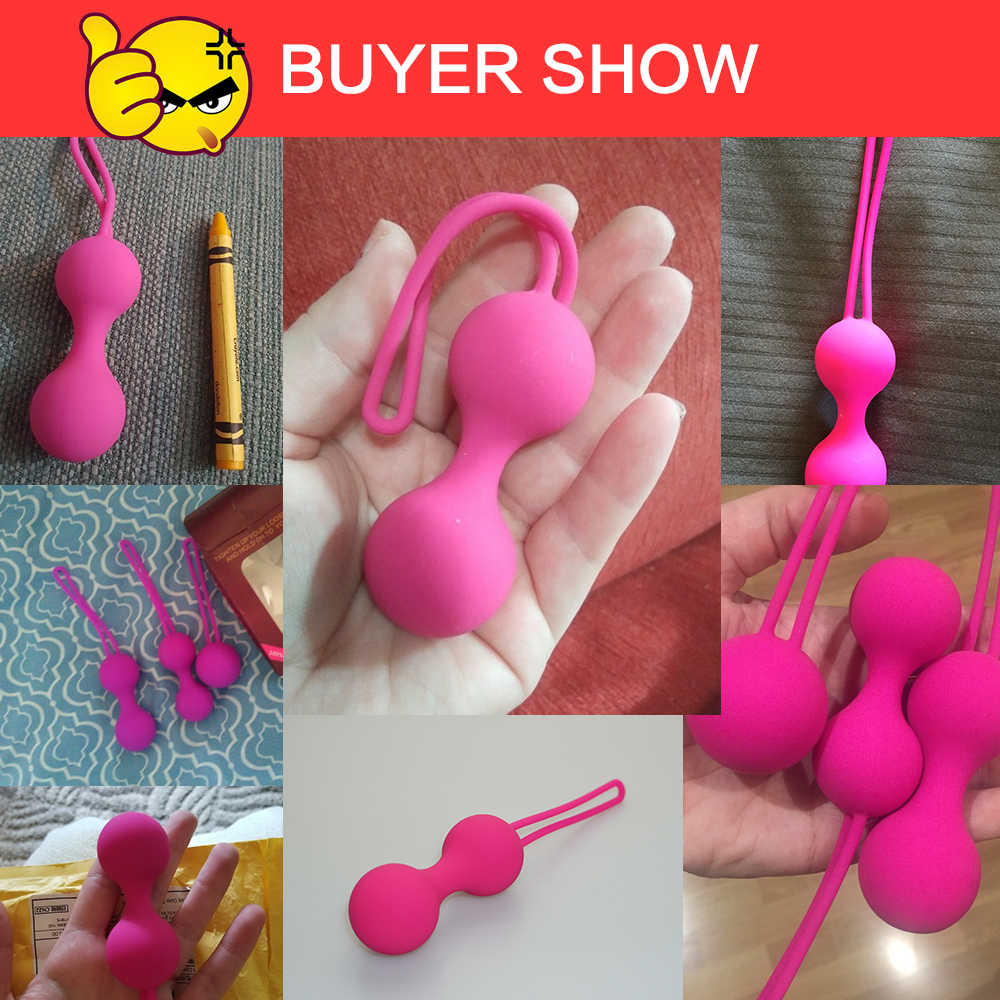 Vaginal Balls Trainer Sex Toys for Woman Silicone Vaginal Chinese Balls Ben 10 Kegel Balls sex toys Tightening Exerciser