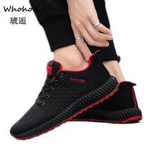 Whoholl Brand Mesh Men Casual Shoes Lac-up Men Shoes Lightweight Comfortable Breathable Walking Sneakers Tenis Feminino Zapatos джинсы urban classics ladies boyfriend denim pants ocean blue 29