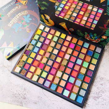 99 Colors Brazil Eye Shadow Palette Pigmented Pressed Powder Shimmer Eye Shadow Matte Glitter Stage Party Eyeshadow Palette 1