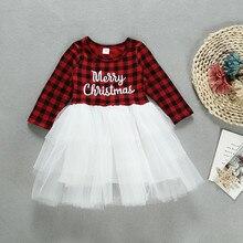 Christmas Dress Long Sleeve For Kids Girls