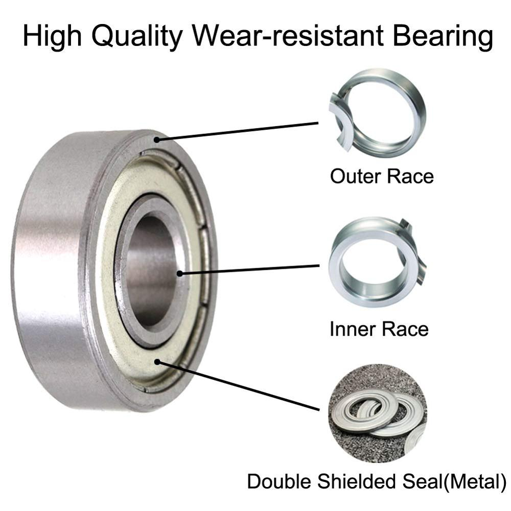 608ZZ Deep Groove Ball Bearing, Motor Grade, Double Shield 608-2Z 80018, 8mm X 22mm X 7mm Chrome Steel Bearing 20/100