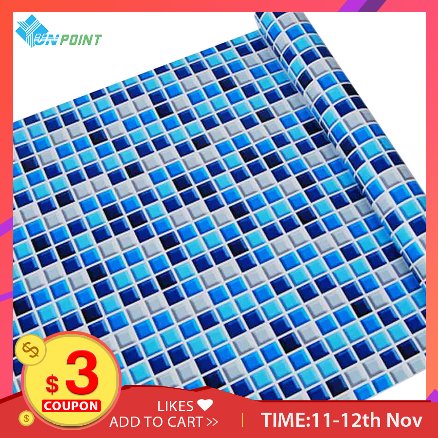 5M/10M Kitchen Waterproof Wall Papers Removable PVC Self Adhesive Tile Wallpaper For Bathroom Toilet Mosaic Pattern Wall Sticker