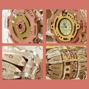 Robotime ROKR Zeit Motor Kalender 3d Holz Puzzle Modell Spielzeug für Kinder Kinder LC801