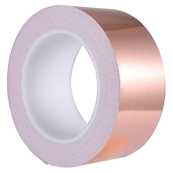 NEW-Copper Foil Tape 50mm x 30M for EMI Shielding Conductive Adhesive for Electrical Repairs,Snail Barrier Tape Guitar 25mm 20m single side adhesive silver conductive fabric cloth tape for pc phone lcd cable emi shielding keyboard repair
