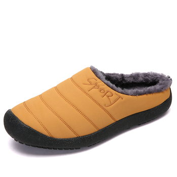 RayZing Winter Slippers for Men and Women Warm Indoor Shoes Waterproof Non-slip Home Shoes with Fur Inside Big Size millffy wool slippers home package with comfortable men and women couple fur large size shoes mother pregnant women shoes
