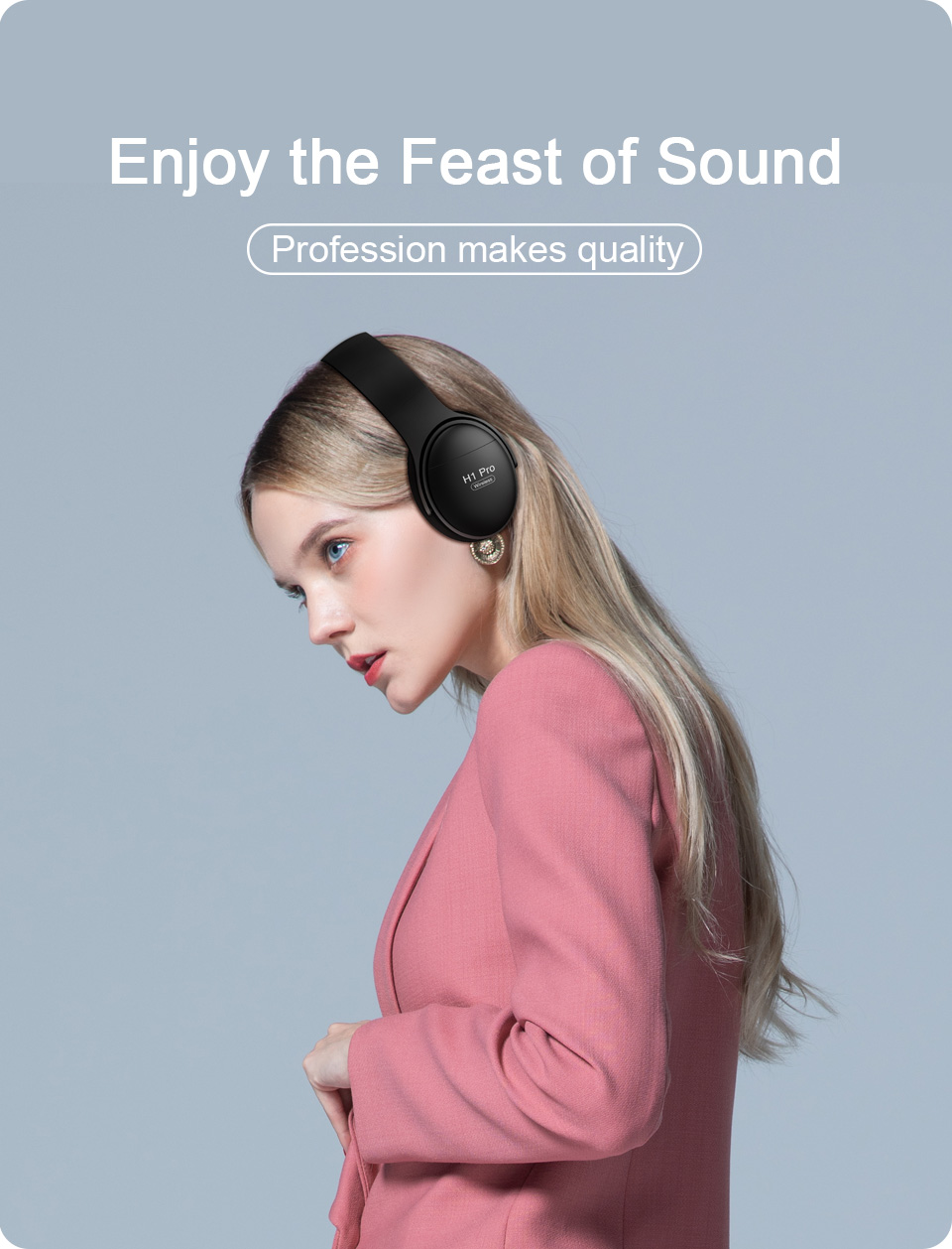 H1 sem fio bluetooth fones de ouvido