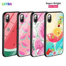 Black Cover Summer Fruit Fashion for iPhone X XR XS Max for iPhone 8 7 6 6S Plus 5S 5 SE Super Bright Glossy Phone Case black cover japanese samurai for iphone x xr xs max for iphone 8 7 6 6s plus 5s 5 se super bright glossy phone case