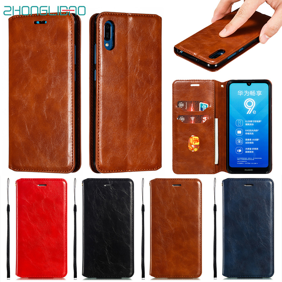 Magnetic Flip Wallet Case for Huawei Honor 20 V20 10 9 Lite P Smart Plus Z Y5 Y6 <font><b>Y7</b></font> Pro Y9 <font><b>2019</b></font> 2018 Luxury Leather Book Cover image