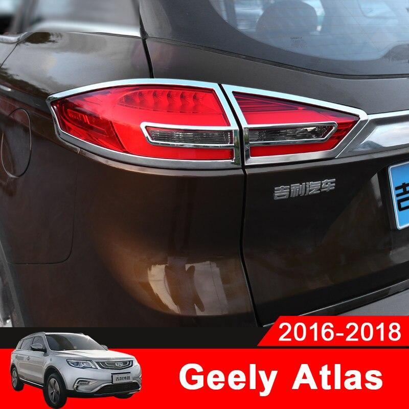 ABS 2pcs Rear Fog Light Lamp Strip Cover Frame Trim For Mazda CX-9 2016-2018