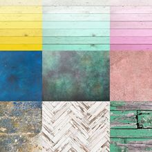 Wooden Background Turqouise-Sponge Floordrop Retro Brown Newborn Pink Painted-Light Ombre