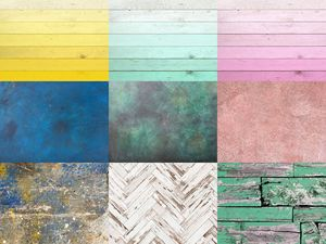 Floordrop Ombre Pink Wood Photography Backdrop Turqouise Sponge Painted Light Brown Retro Newborn Wooden Background Photography