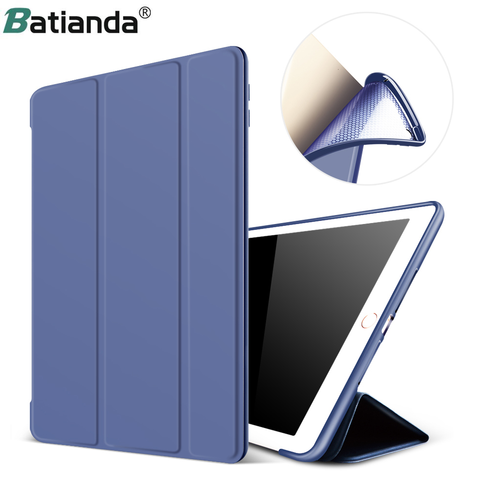 Case For IPad 2017 2018 9.7 Inch Model A1822 A1823 A1893 A1954 Smart Case Protective Cover Soft Back Cover