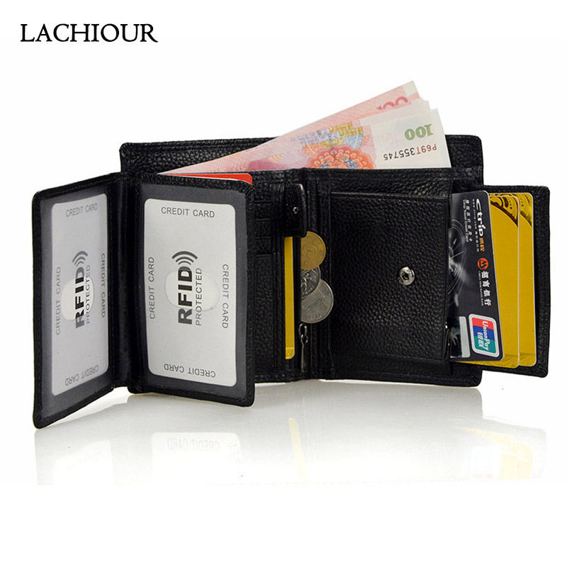 Lachiour <font><b>Men</b></font> Small Handy Pocket <font><b>Wallet</b></font> Functional Male <font><b>Genuine</b></font> <font><b>Leather</b></font> Purse Coin <font><b>Men's</b></font> <font><b>Short</b></font> Card Holder <font><b>Wallet</b></font> Bag image
