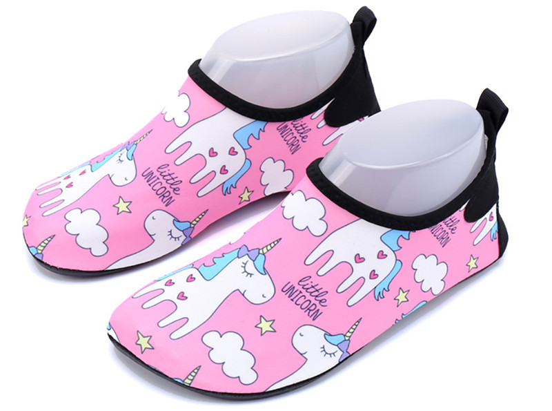 Children Beach Shoes Baby Soft Floor Indoor Slipper Unicorn Swim Socks Boys And Girls Anti-slip Home Barefoot Kids Slippers