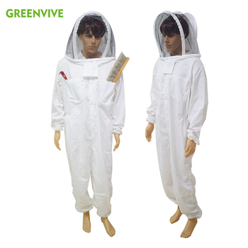 Professional Large Body Beekeeping Bee Keeping Suit Anti Bee Suit Beekeeping Clothing Protective White Daily Clothes aluminum foil clothing fire fighting suit fireman outside suit high tempreture protective clothes radiation proof clothes