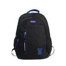 Teen Backpack Boys School Bags Large Capacity Nylon Men Back Pack Black Casual College Style Bagpack Youth Student Backbag Big cheap BOWEEN Embossing Softback 20-35 Litre Interior Slot Pocket Interior Compartment Soft Handle Letter Reflective Stripe zipper