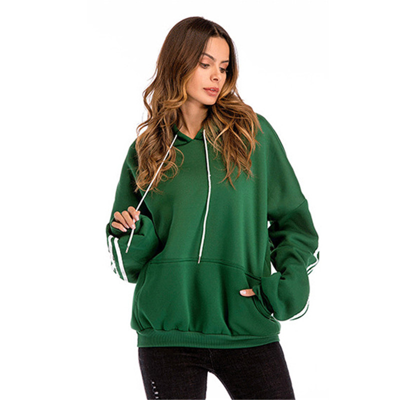 Hoodie Women Red Green Black S-3XL Long Sleeve Hooded Sweatshirts 2019 New Autumn Winter Loose Plus Velvet Thick Hoodies LD1160