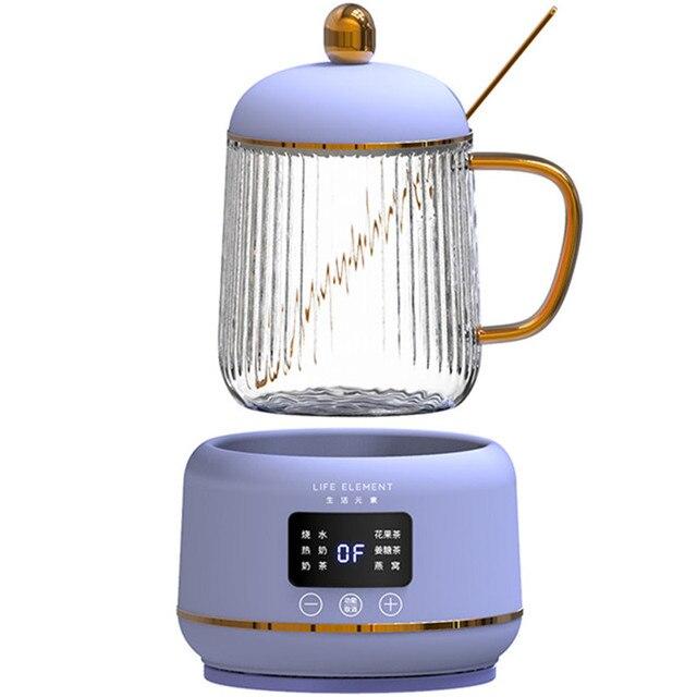 Bouilloire électrique Portable automatique 220V 400ML, Mini marmite chauffante en verre, bouteille de service de santé pour la maison 1