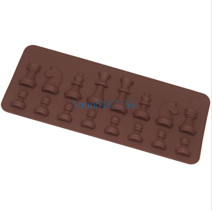 600pcs/lot Chess Shaped Silicone Mold Chocolate Mould Decorating Tools Cake Mould Fondant Sugar Craft Cake Pastry Baking Tool