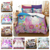 Drop Shipping Bedding Set 3D Printed Unicorn For Home Duvet Cover Set With Pillowcase Queen King 12 Sizes Luxury Home Textile