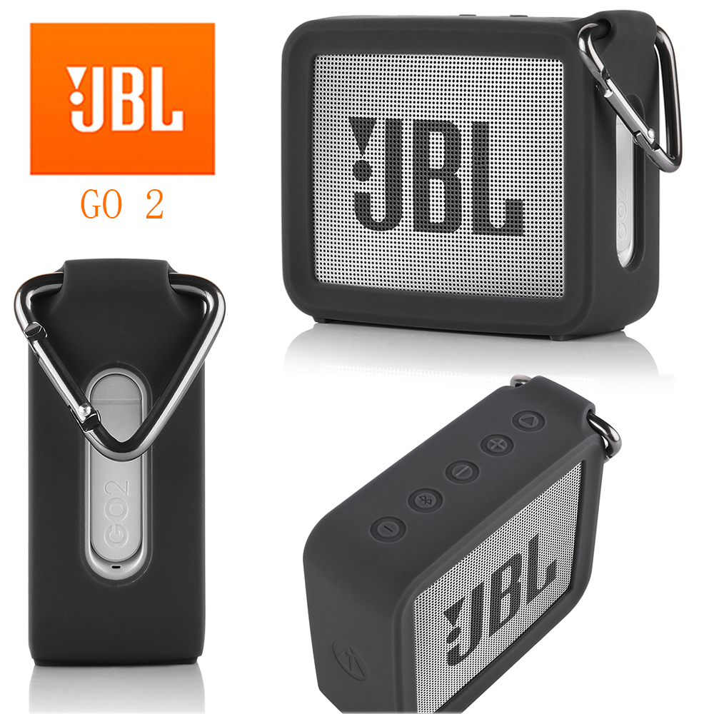 Jbl go 2 caso para funda jbl go2 original portátil silicone alto-falante caso macio silicone gel de armazenamento bolsa capa