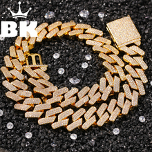 18mm Cubic Zircon 3rows Cubans Link Necklace  Gold  Plated Luxury Copper Micro Paved CZ Cuban Chain 16/18/20inch